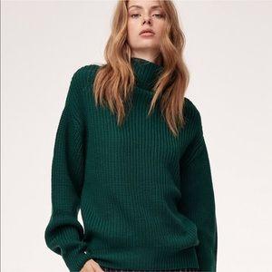 NWOT Aritzia Dark Green Montpellier Sweater